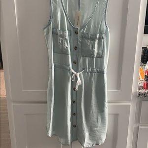 NWT Blue button down dress